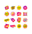 sale banner templates special offer tags vector image vector image