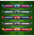 scoreboard design object football vector image vector image