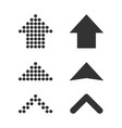 set arrows icon business concept arrow dotted vector image vector image