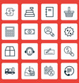 set of 16 e-commerce icons includes spectator vector image