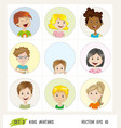 set of kids avatar icons vector image vector image