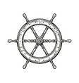 ship wheel isolated on white background rudder vector image vector image
