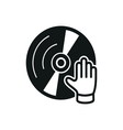 simple black dj icon on white background vector image vector image