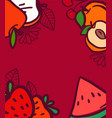 summer fruits background with copy space for text vector image vector image