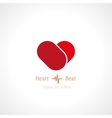symbol of heart vector image vector image