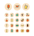 Thin line icons for food and drinks vector image vector image