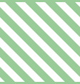 tile pattern with mint green and white stripes vector image