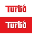 Turbo text logo design