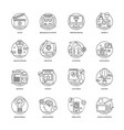 web and mobile app development line icons 2 vector image vector image
