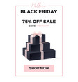 web banner black friday sale up to 75 percent vector image vector image