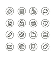 Web technology and media icons vector image vector image