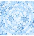 white grunge snowflakes seamless vector image vector image