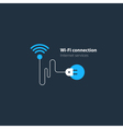 Wi-Fi connection concept wireless internet access vector image vector image