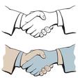 shake hands vector image
