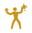 basketball player athlete vector image