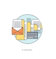 Flat mobile phone icon Communication concept vector image