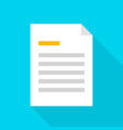 file document flat icon vector image