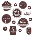 Travel and vacation emblems set vector image