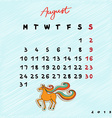 2015 horses august vector image vector image