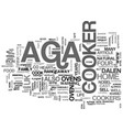 aga cookers text word cloud concept vector image vector image