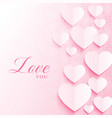 artistic love background with hearts for vector image vector image