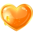 beautiful heart from honey vector image vector image