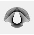 Black Abstract Fractal Shape vector image