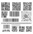 black matrix barcode line collection vector image vector image