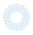 blue stars pattern vector image