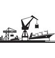 Cargo terminal port vector image vector image