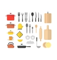 Cartoon Cookware Set vector image