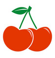 cherry icon on white background flat style sweet vector image vector image