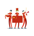 chinese people china flag vector image vector image