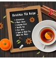 Christmas tea with spices aromas mulled wine vector image vector image