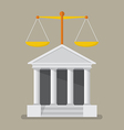 court building with scales justice vector image vector image