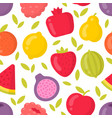 cute fruits seamless pattern on white vector image vector image