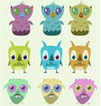 cute monsters set vector image vector image