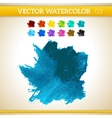 Dark Blue Watercolor Artistic Splash for Design vector image vector image