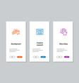 development creative research share ideas vector image