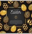 easter egg frame happy luxury banner vector image vector image