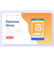 ebook equipment wireless device tablet vector image vector image