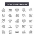 educational services line icons signs set vector image vector image