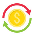 exchange flat icon business and finance dollar vector image