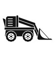 farm excavator icon simple style vector image