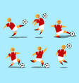 figurative soccer player vector image vector image