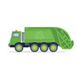 garbage truck trash waste and rubbish vector image