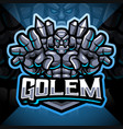 golems esport mascot logo design vector image vector image