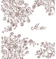 Graphic floral background for menu vector image vector image