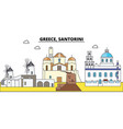 greece santorini city skyline architecture vector image