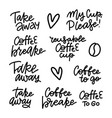 hand lettering for restaurant cafe menu coffee vector image
